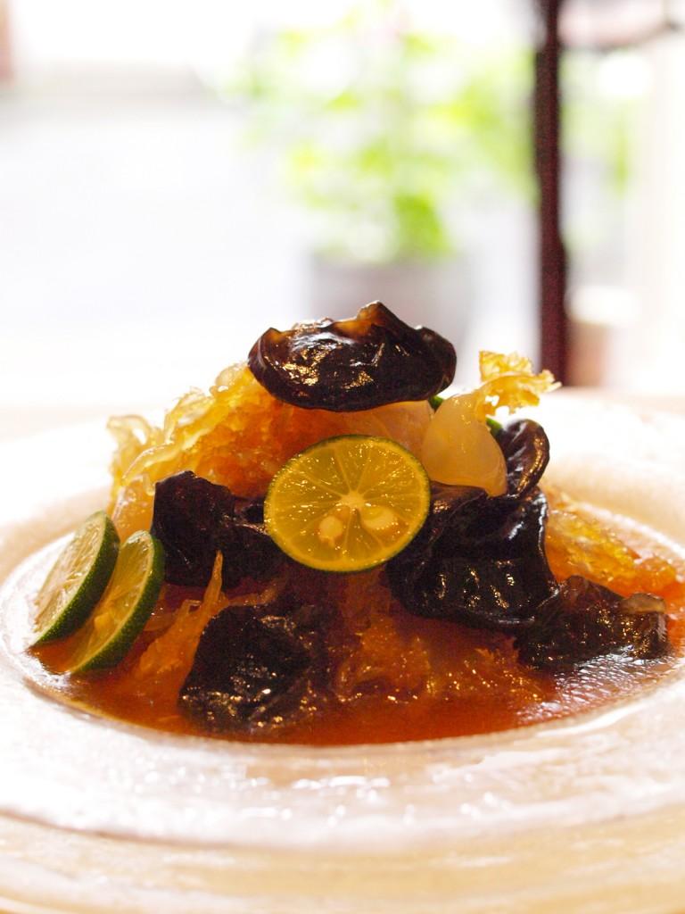 酸橘海斗 (木耳と花咲クラゲのスダチ風味)