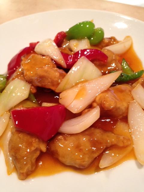 チャイナムーン ランチ 酢豚
