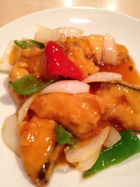 鮮魚の甘酢ソース