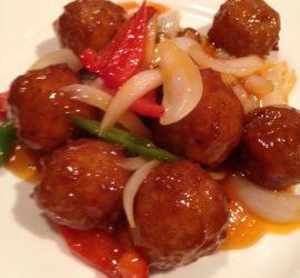 肉ダンゴ甘酢ソース
